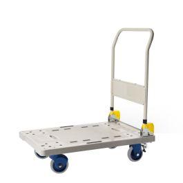 Carro de plástico Prestar con plataforma plegable, capacidad de carga 300 kg