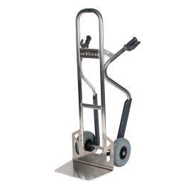 Carretilla de mano de aluminio Matador NST250CT con deslizadores para escaleras; 350 kg de capacidad de carga