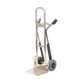 Carretilla de mano de aluminio Matador NST300CT con deslizadores para escaleras; 350 kg de capacidad de carga