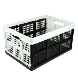 Caja plegable - 46 litros - gris claro y negro