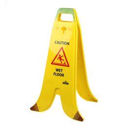 Panel plegable en forma de plátano para suelos mojados