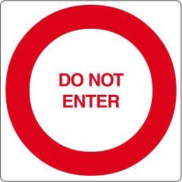 Pictograma de piso para «Do Not Enter»