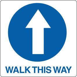 Pictograma de suelo para «Walk This Way»