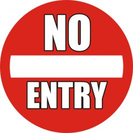 """Pictograma de piso antideslizante: """"No Entry"""""""