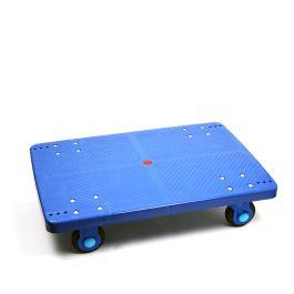 Carro de plataforma de plástico con capacidad de carga de 300 kg