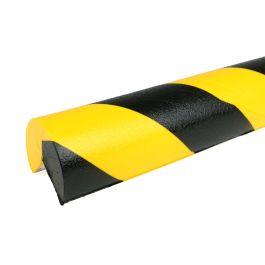 Parachoques PRS para esquinas, modelo 4 - amarillo y negro - 1 metro