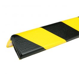 Parachoques PRS para esquinas, modelo 8 - amarillo y negro - 1 metro