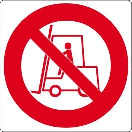 Pictograma de suelo para «Prohibido el uso de Montacargas»