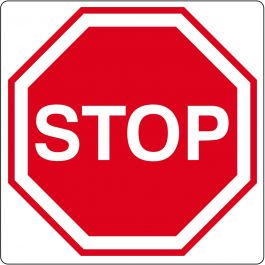 Pictograma de piso para «Stop» (Alto)