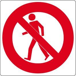 Pictograma de piso para «Prohibido el paso de Peatones»