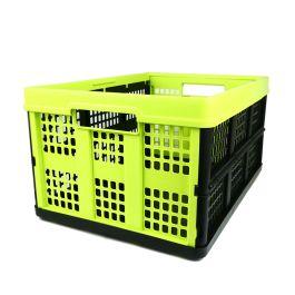 Caja plegable - 46 litros - lima y negro