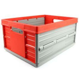 Caja plegable - 32 litros - rojo y gris