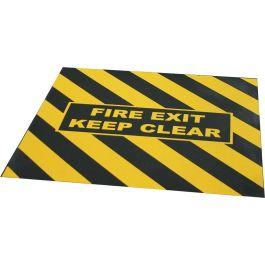 """Cinta de advertencia de """"FIRE EXIT KEEP CLEAR"""" para salida de emergencia"""