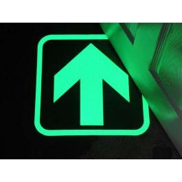 Flecha fotoluminiscente para indicar rutas de salida