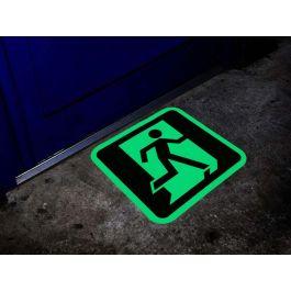 Señal de salida de emergencia fotoluminiscente