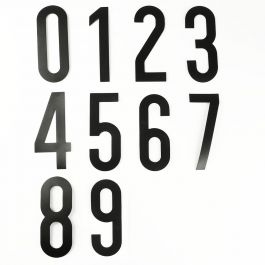 Colección de números autoadhesivos (del 0 al 9)