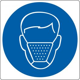 """Mouth Cap Required"" sticker (Maxi-Loka Premium)"