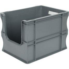Contenedor para pared recta Eurobox 300x400x290 mm con frontal abierto