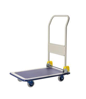 Carro con plataforma plegable de acero Prestar, capacidad de carga 150 kg