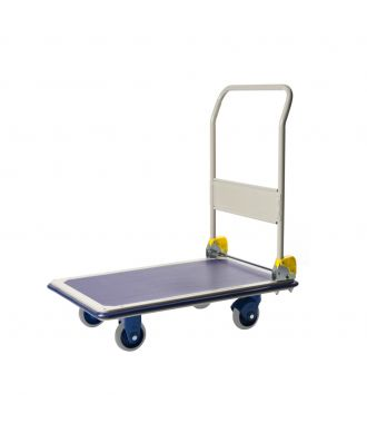 Carro de acero con plataforma plegable Prestar, capacidad de carga 300 kg