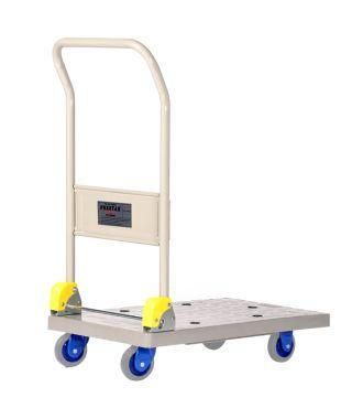Carro con plataforma plegable de plástico Prestar, capacidad de carga 150 kg