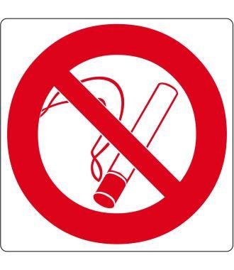 Pictograma de piso para «Prohibido fumar»