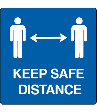 Pictograma de suelo para «keep safe distance»