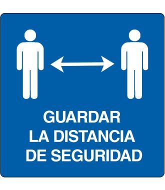Pictograma de suelo para «Guardar la distancia de seguridade»