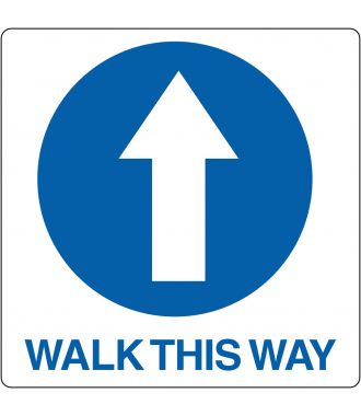 Pictograma de suelo para «Walk This Way»