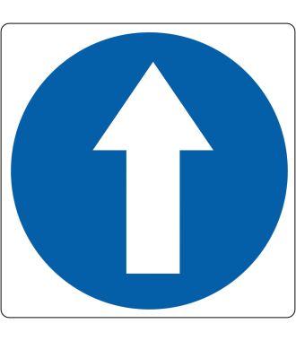 Pictograma de suelo para «dirección de caminata obligatoria»