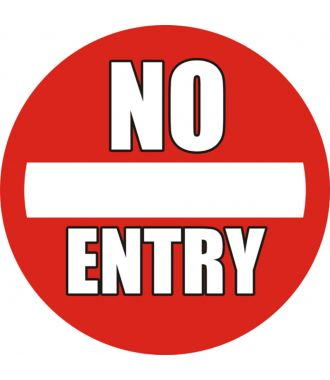 "Pictograma de piso antideslizante: ""No Entry"""