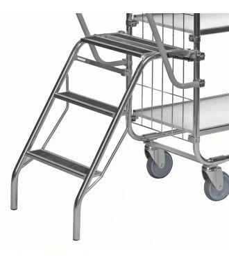 Escalera plegable Kongamek para carro con estantes KM8000