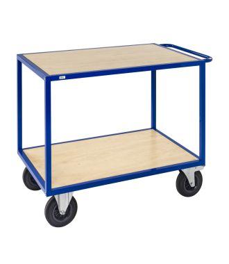 Mesa carro Kongamek con estantes de madera y capacidad de carga de 500 kg