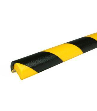 Parachoques PRS para esquinas, modelo 1 - amarillo y negro - 1 metro