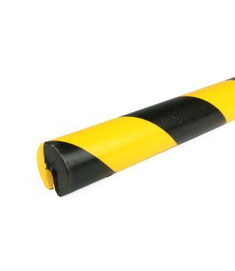 Parachoques PRS para bordes, modelo 2 - amarillo y negro - 1 metro