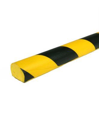 Parachoques PRS para superficies planas, modelo 3 - amarillo y negro - 1 metro