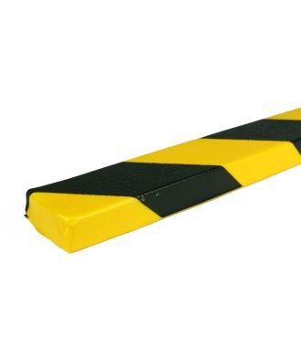 Parachoques PRS para superficies planas, modelo 43 - amarillo y negro - 1 metro