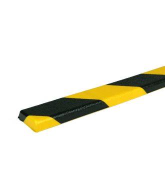 Parachoques PRS para superficies planas, modelo 44 - amarillo y negro - 1 metro