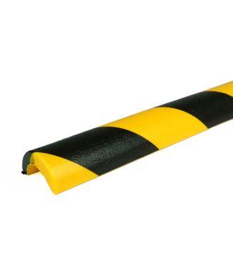 Parachoques PRS para tuberías, modelo 5 - amarillo y negro - 1 metro