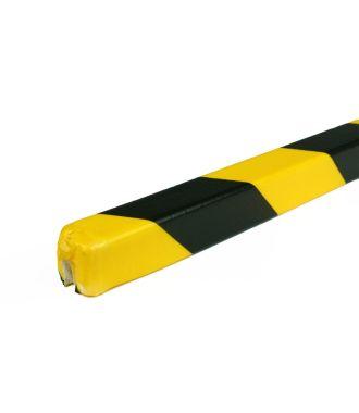 Parachoques PRS para bordes, modelo 9 - amarillo y negro - 1 metro