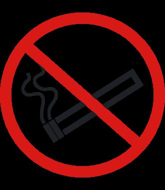 """Pictograma de piso antideslizante: """"Prohibido fumar"""""""
