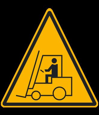 """Pictograma de piso antideslizante: """"Advertencia: Área de Montacargas"""""""