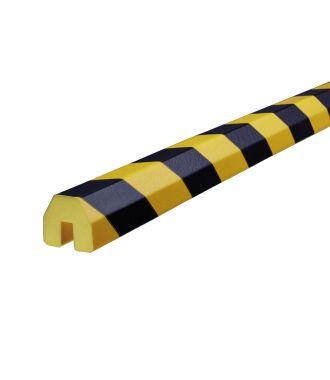 Perfil protector Knuffi para bordes, tipo BB - amarillo y negro - 5 metro