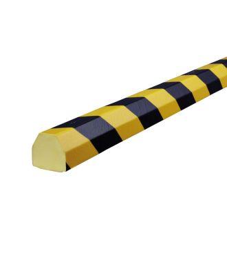 Perfil protector Knuffi para superficies planas, tipo CC - amarillo y negro - 5 metro