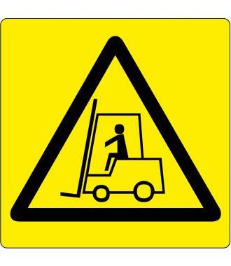 Pictograma de piso para «Advertencia: Área de Montacargas»