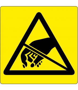 Pictograma de piso: Advertencia de Elementos sensibles a descargas electrostáticas.