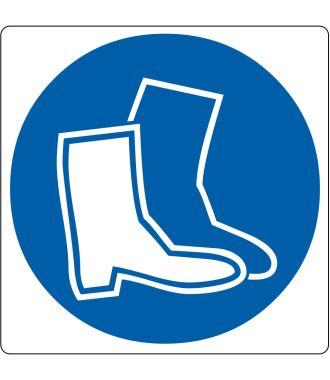 Pictograma de piso para «Calzado de Seguridad requerido»