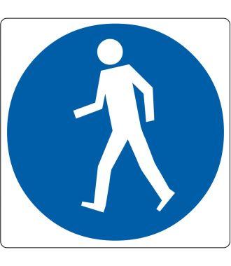 Pictograma de piso para «Solo peatones»