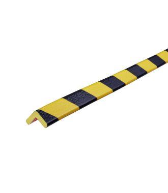 Perfil protector Knuffi para esquinas, tipo E - amarillo y negro - 5 metro