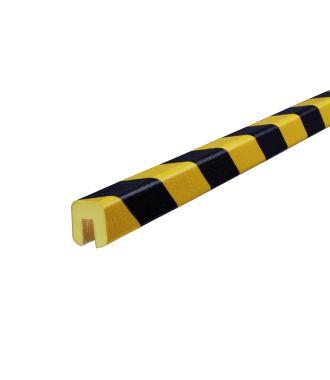 Perfil protector Knuffi para bordes, tipo G - amarillo y negro - 5 metro